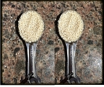 2 TBSP make an ounce of sesame seeds