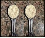 2 TBSP make an ounce of sesame seeds